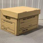 Archive box cardboard document storage
