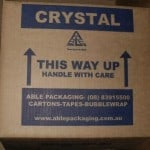 Crystal Moving Boxes for storage