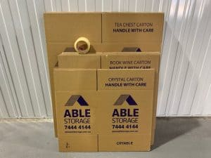 Moving Pack Small Cardboard Boxes Adelaide
