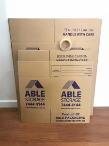 Moving boxes - affordable self storage adelaide